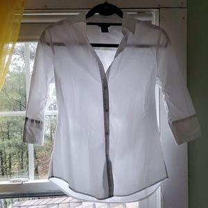 Women's button down white shirt